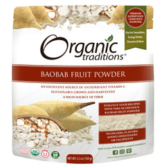 Poudre de fruits de baobab Organic Traditions 150g