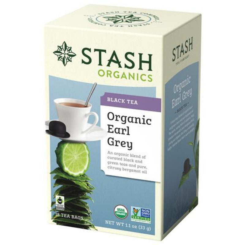 Stash Organic Earl Grey 18 Tea Bags