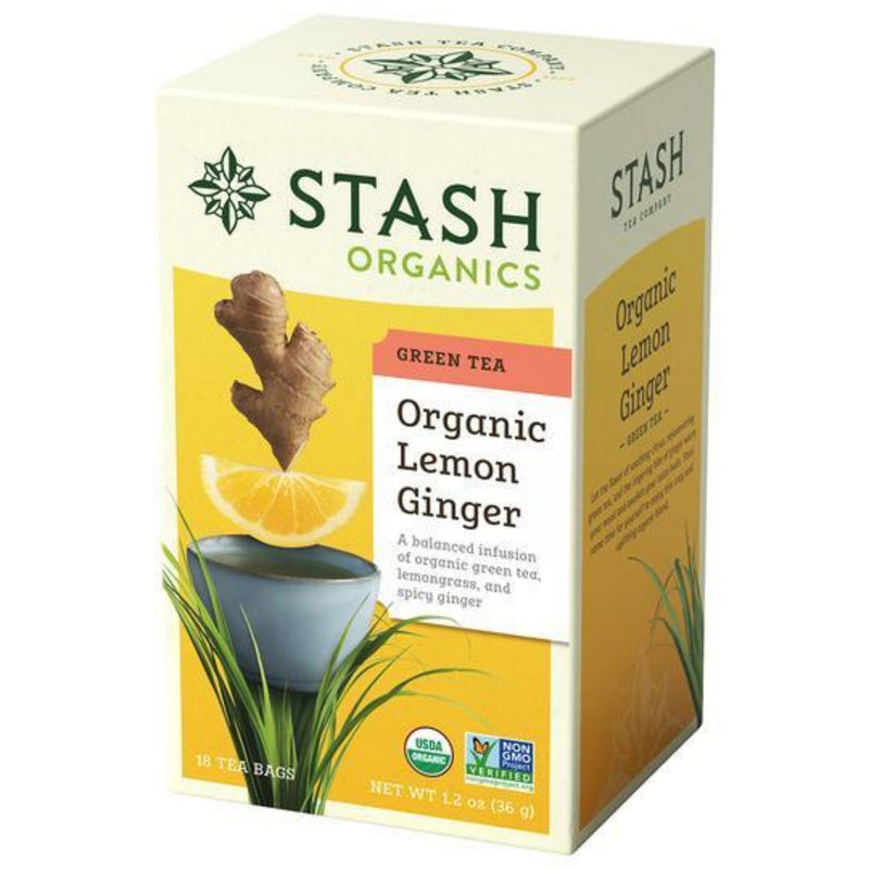 Stash Organic Lemon Ginger 18 Tea Bags