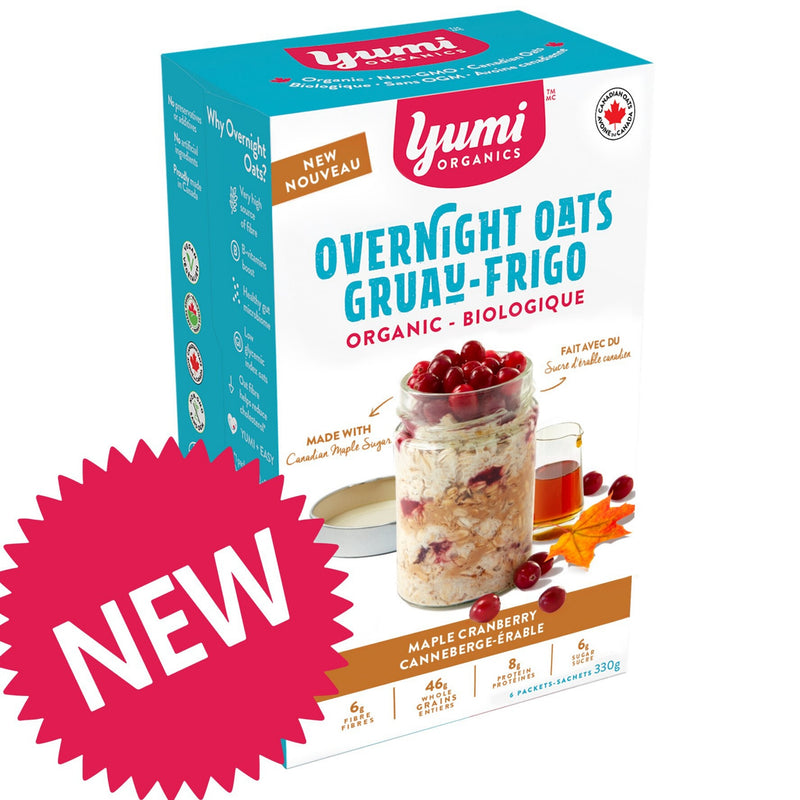Yumi Organics Overnight Oats Organic Maple Cranberry 330g