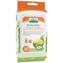 Aleva Naturals Bamboo Baby Pacificer & Toy 30 Wipes