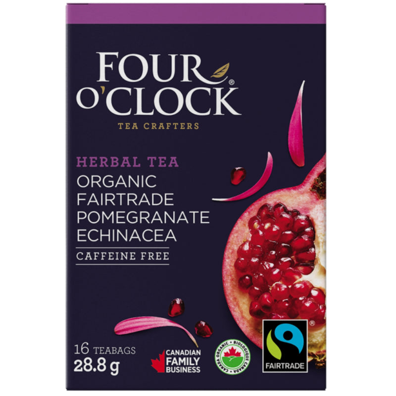 Four O'Clock Pomegranate Echinacea Organic 16 Tea Bags