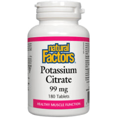 Natural Factors Potassium Citrate 99mg 180tabs