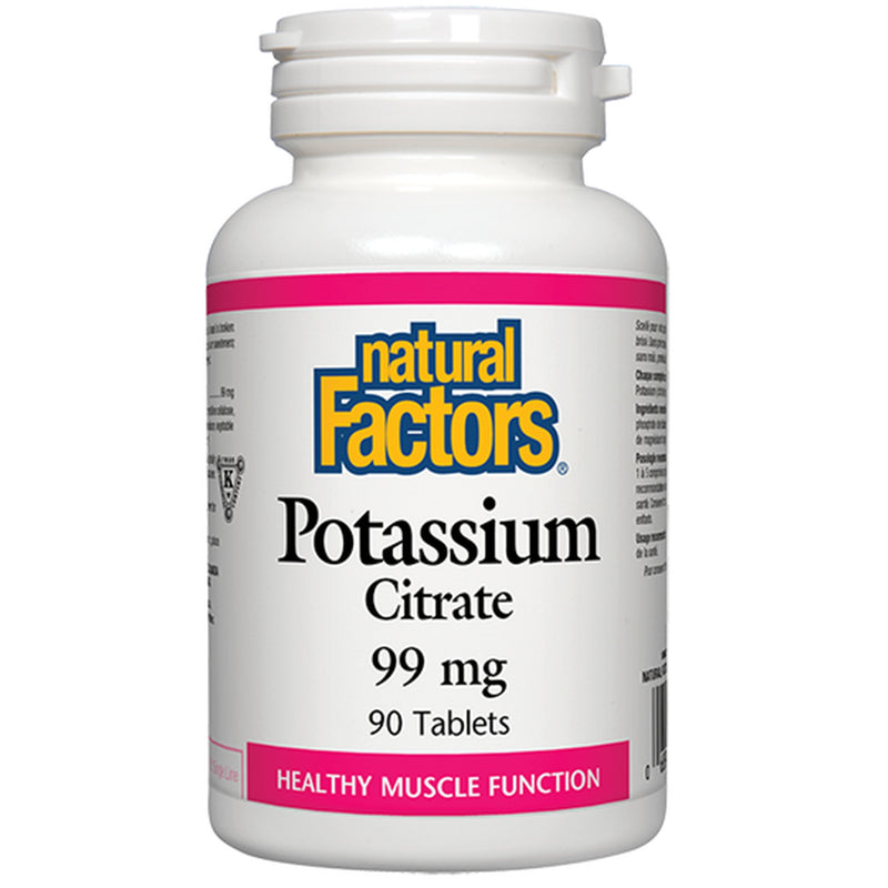 Natural Factors Potassium Citrate 99mg 90tabs