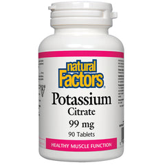 Citrate de potassium de Natural Factors 99 mg 90 comprimés