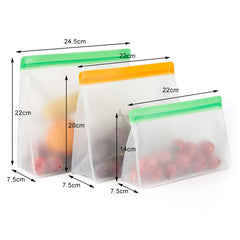 Reusable Stand Up Silicone Ziplock Bags