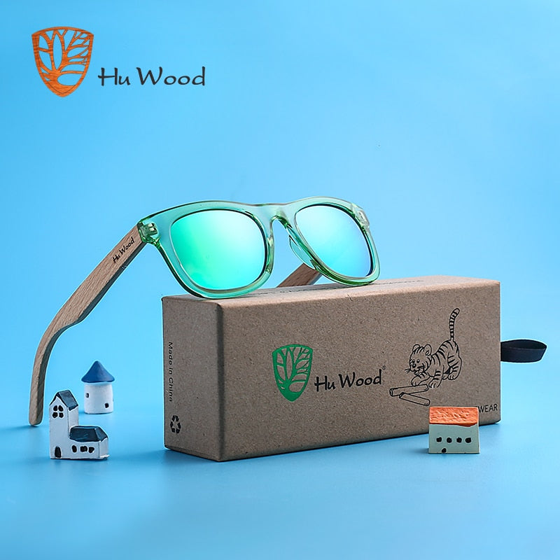 Wood Kids Polarized Sunglasses for Boys and Girls with Recycled Frames | 4 to 8 years