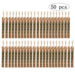 50pcs Pack Natural Bamboo Toothbrushes