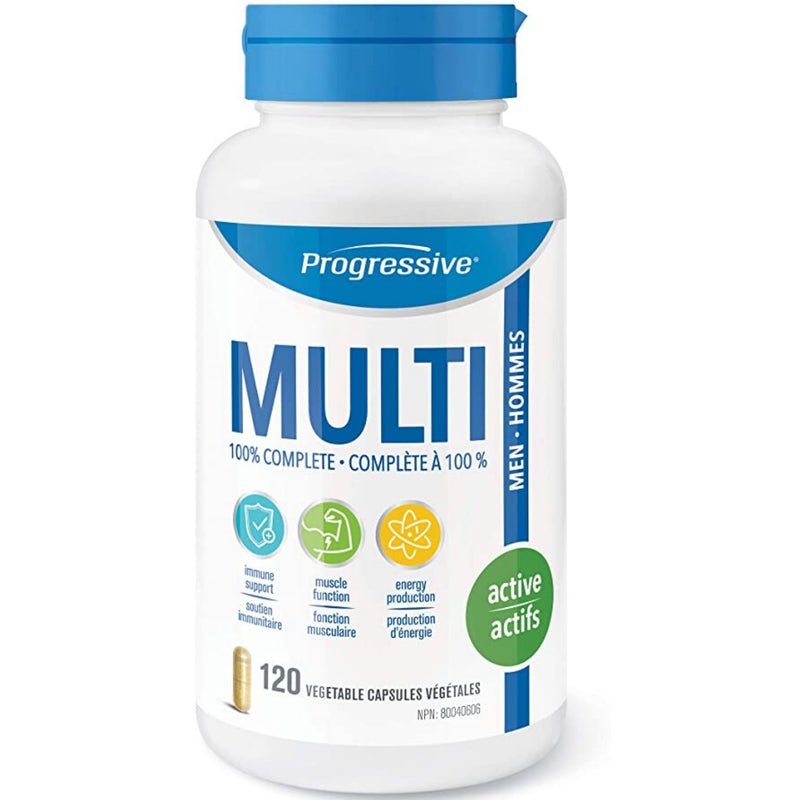 Progressive Men's Active MultiVitamin 120vcaps