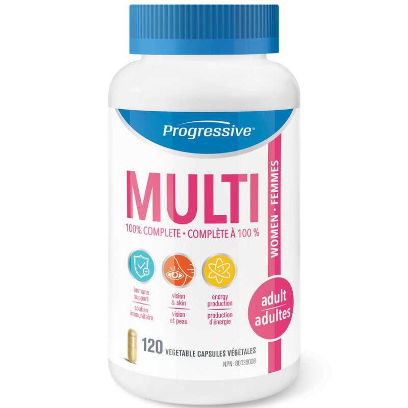 Progressive Adult Women's MultiVitamin 120vcaps