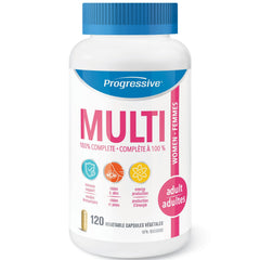 Progressive Adulte Femmes MultiVitamin 120vcaps