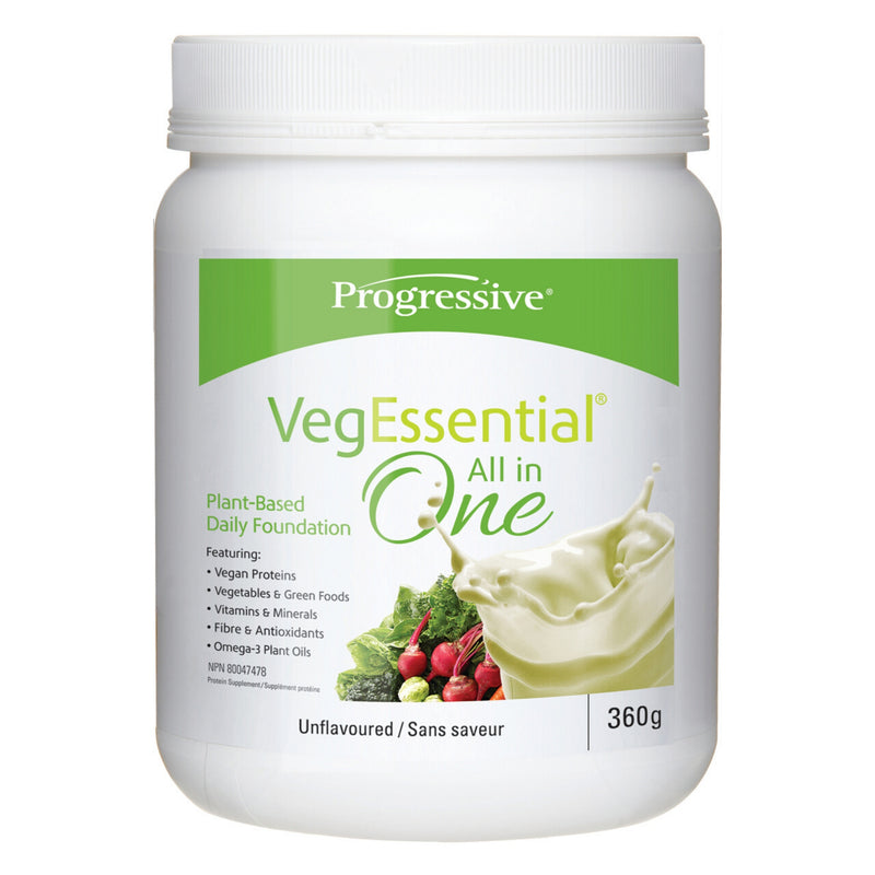 Progressive VegEssential All in One Protein Supplement Unflavoured 360g
