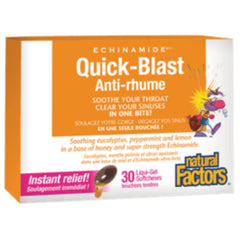 Natural Factors Quick Blast ecinamide 30 gels liquides