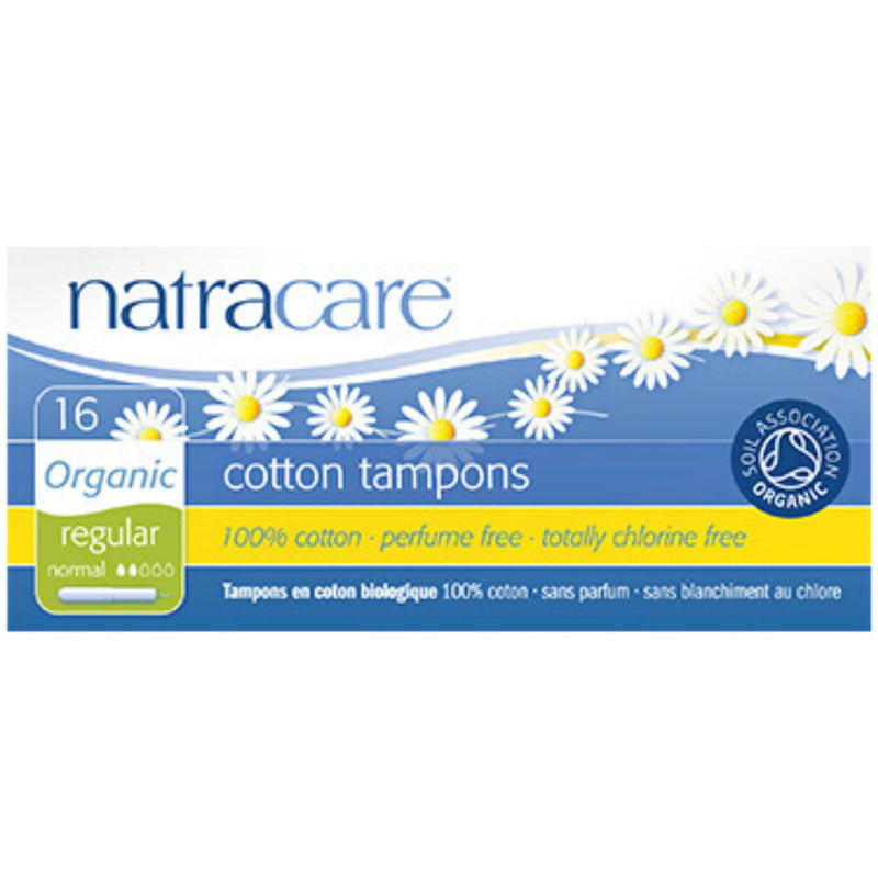 Natracare 16 Organic Cotton Tampons Regular