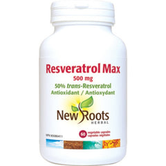 New Roots Resvératrol Max 500mg 60vcaps