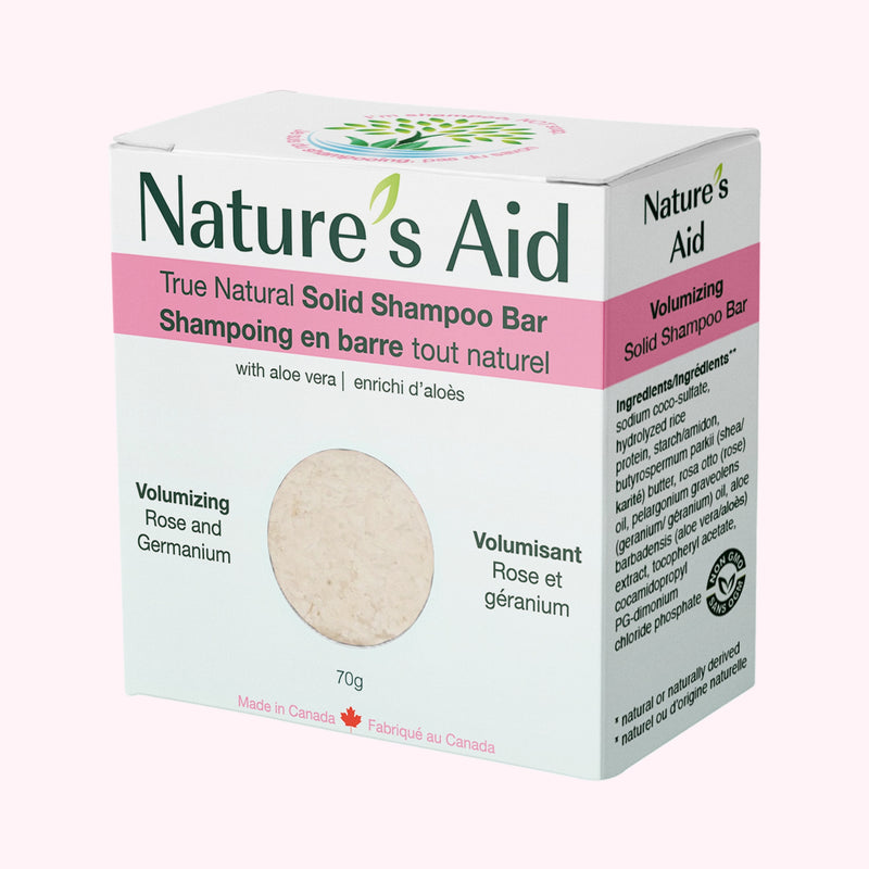Nature's Aid Rose & Geranium Shampoo Bar 70g