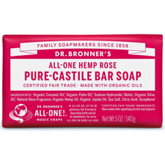 Dr.Bronner's Rose Pure-Castile Bar Soap 140g