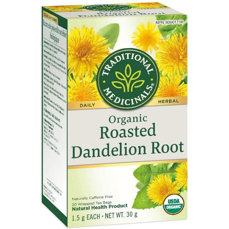 Traditional Medicinals Organic Roasted Dandelion Root 20 Tea Bags