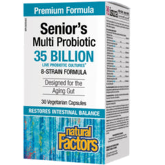 Natural Factors Senior Multi Probiotic 30 caps