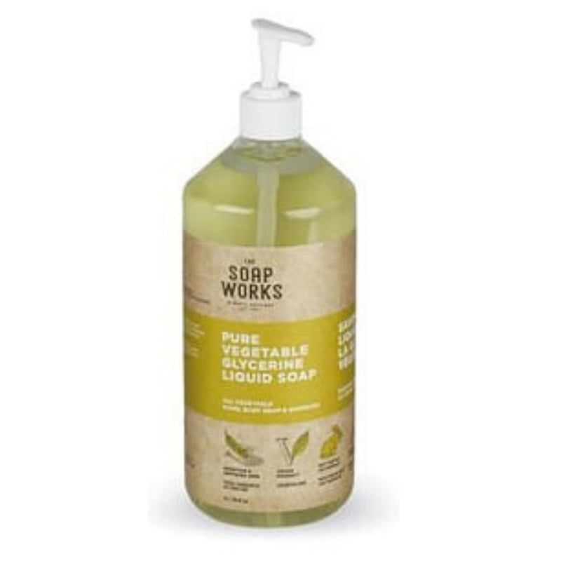 The Soap Works Pure Vegetable Glycerine Liquid Soap 1L