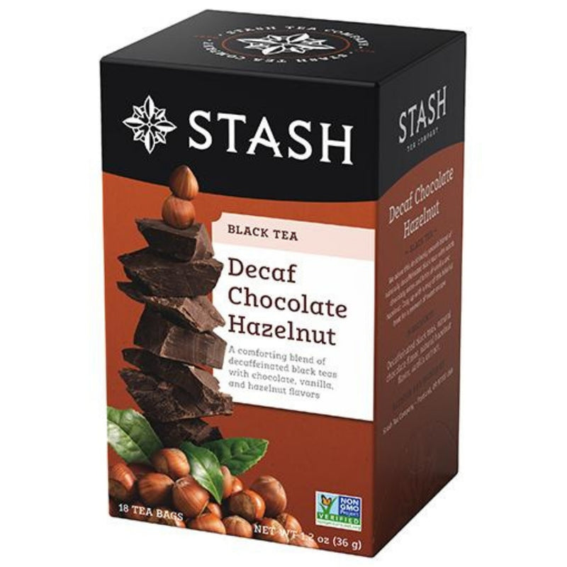 Stash Decaf Chocolate Hazelnut 18 Tea Bags