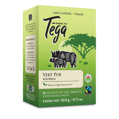 Tega Pure Green Rooibos 16 Tea Bags