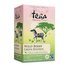 Tega Wild Berry Green Rooibos 16 Tea Bags