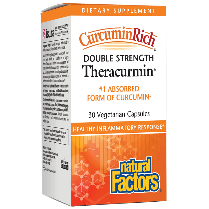Natural Factors Theracumin Double Strength 60mg 30Vcaps