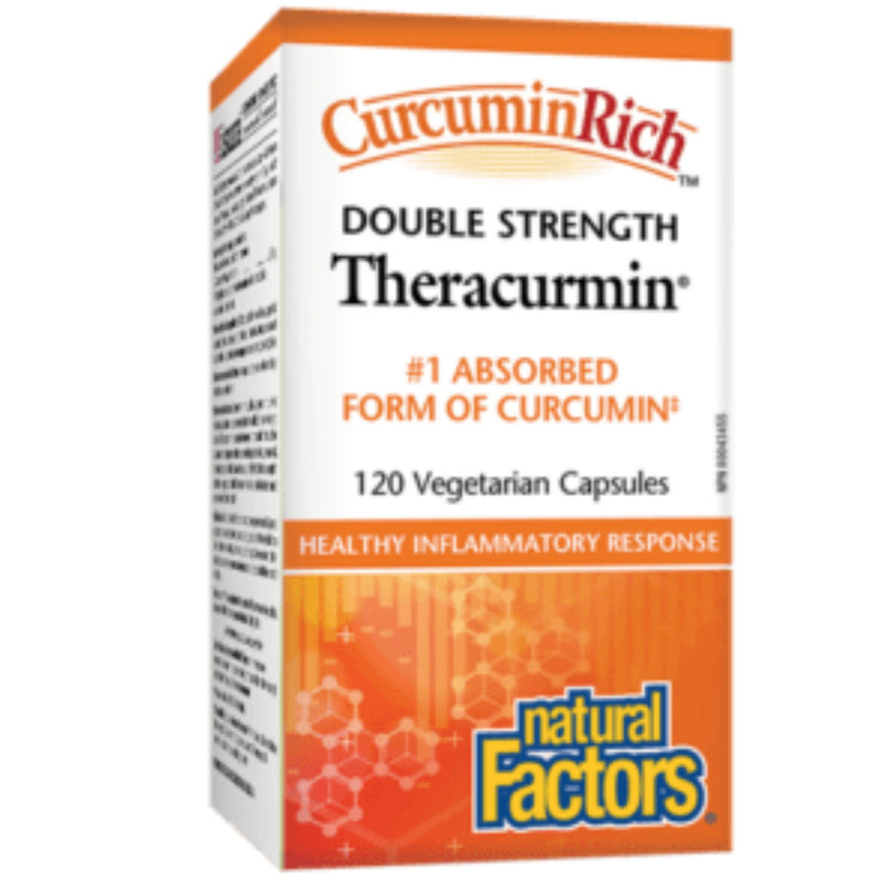 Natural Factors Theracumin Double STR. 60mg 60 V.Caps