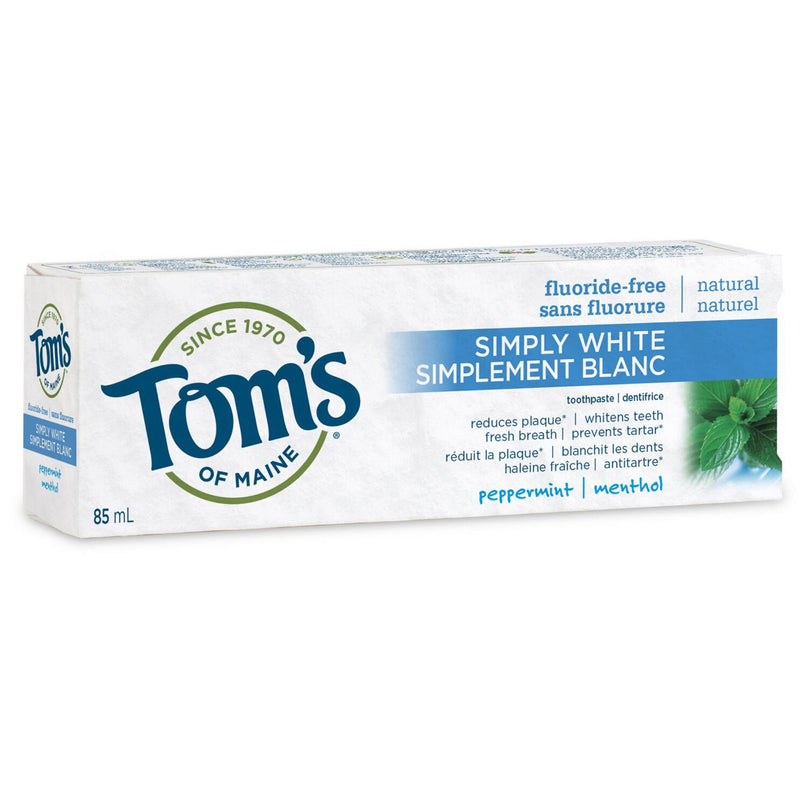 Tom's of Maine Peppermint Simply White Toothpaste 85ml