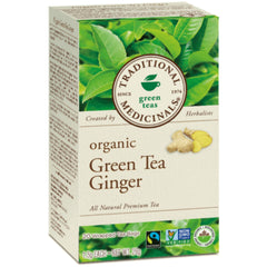 Traditional Medicinals Organic Green Tea Ginger 20 Tea Bags