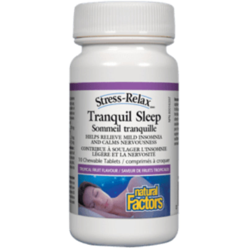 Natural Factors Tranquil Sleep Tropical Fruit 120 chewables
