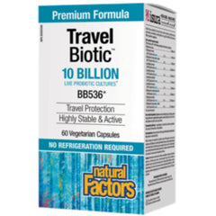 Natural Factors TravelBiotic Shelf Stable Probio 10  60 VCaps