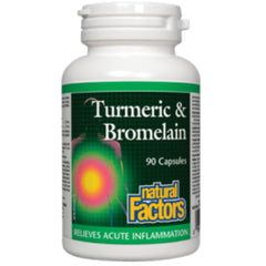 Natural Factors Tumeric & Bromelain 90caps