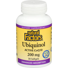 Natural Factors Ubiquinol 200mg 30sgels