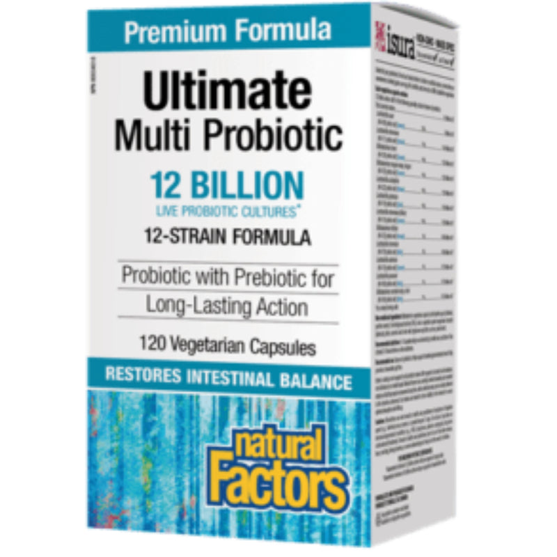 Natural Factors Ultimate Multi Probiotic 12 Billion Live Cultures 120vcaps