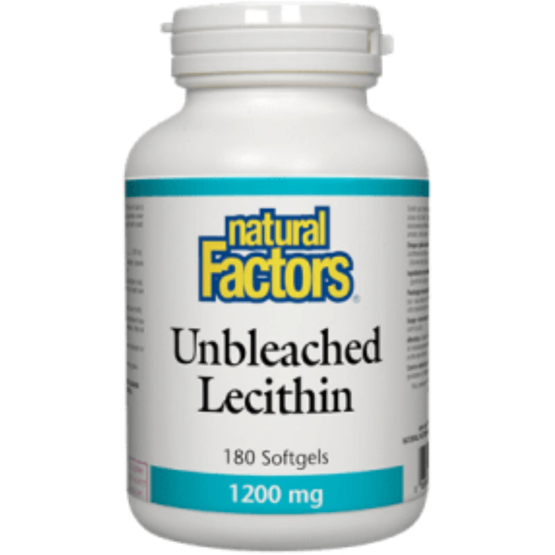 Natural Factors Unbleached Lecithin 1200mg 180sgels