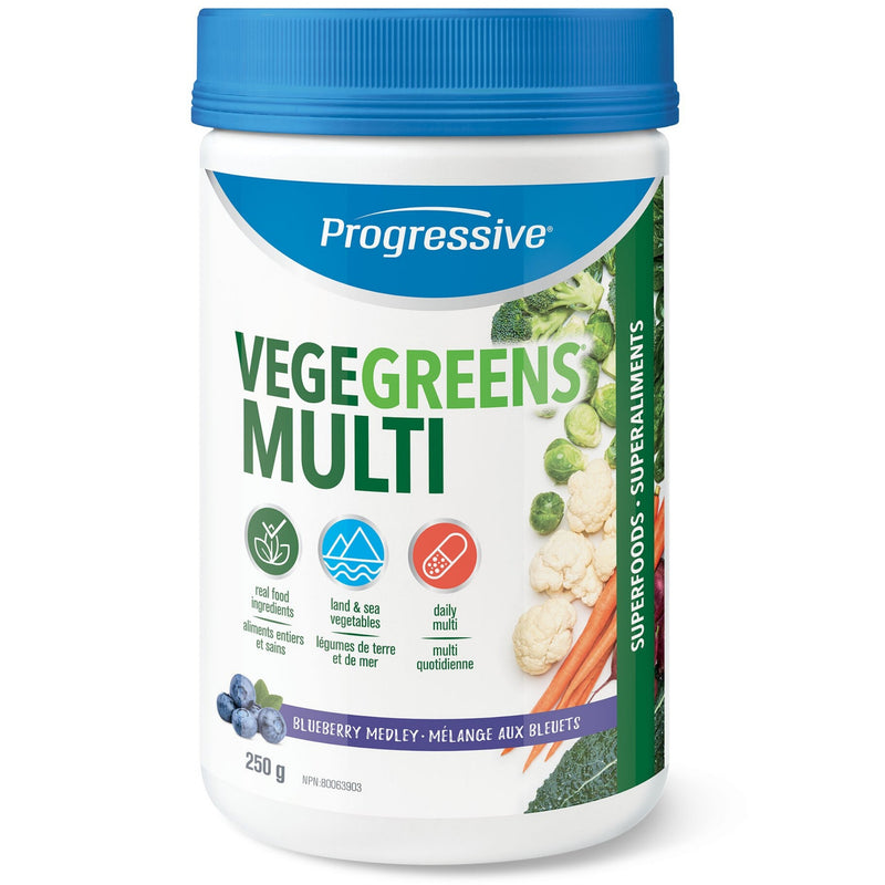 Progressive VegeGreens Multi Blueberry Medley 250g