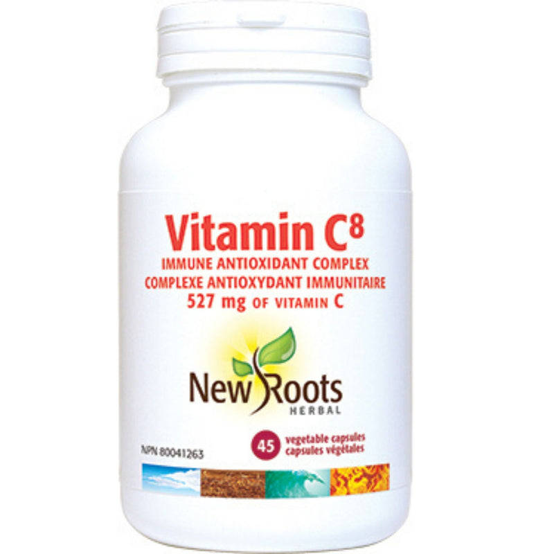 New Roots Vitamin C8 527mg 45vcaps