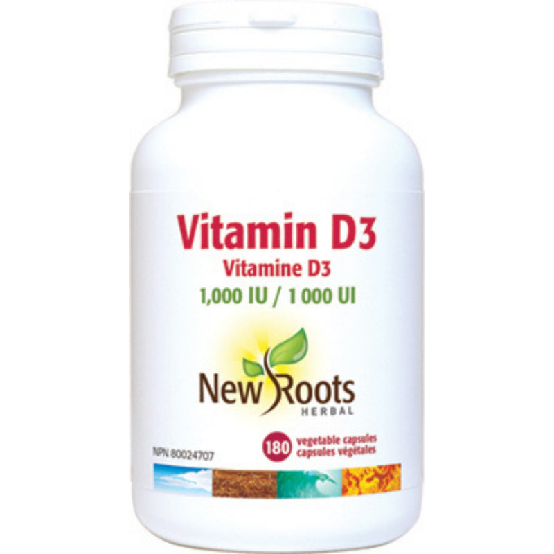 New Roots Vitamin D3 1000IU 180vcaps