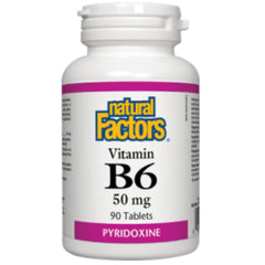 Natural Factors Vitamine B6 50mg 90t