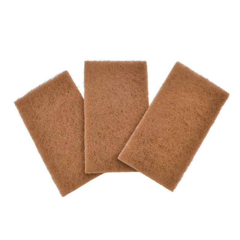 The Unscented Company Full Circle Walnut Shell Scour Pads 3 Pack
