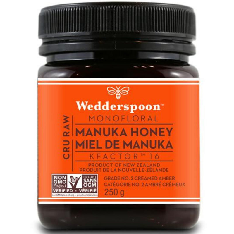 Wedderspoon Raw Monofloral KFactor 16 Manuka Honey 250g
