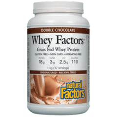 Natural Factors Grass Fed Whey Protein Double Chocolate 1kg