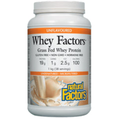 Natural Factors Unflavoured Whey 1Kg