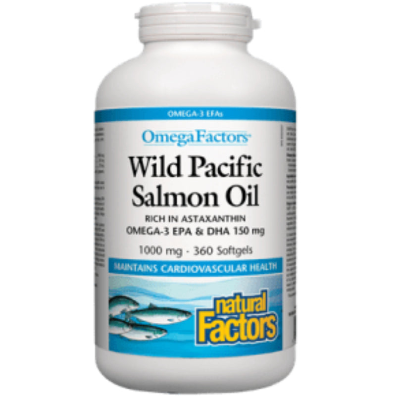 Natural Factors Wild Pacific Salmon Oil 1000mg 180sgels