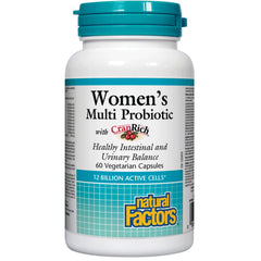 Natural Factors Women`s Multi Probiotic 12 Billion Live Cultures 60vcaps
