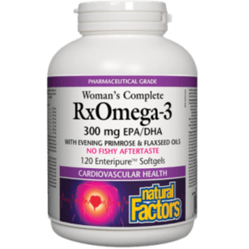 Natural Factors Women's RxOmega3 300mgEPA/DHA 120sgels