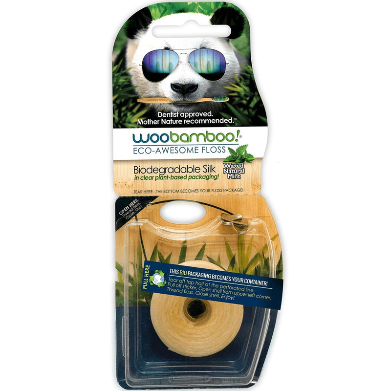 Woobamboo! Biodegradable Silk Mint Floss 37m