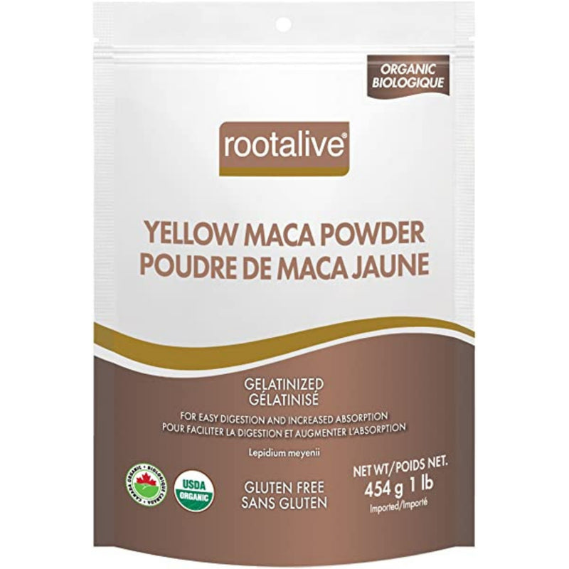 Rootalive Organic Yellow Maca Powder Gelatinized 220g